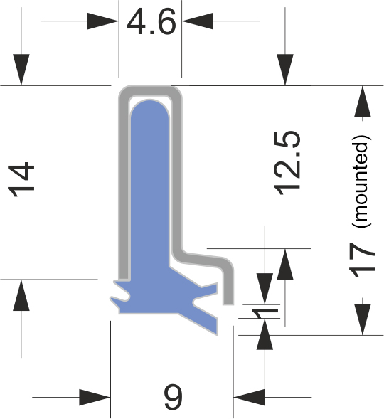 AB-1 series way wipers for machines