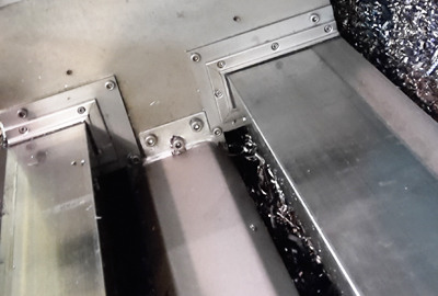 Way Wipers assembled on machine