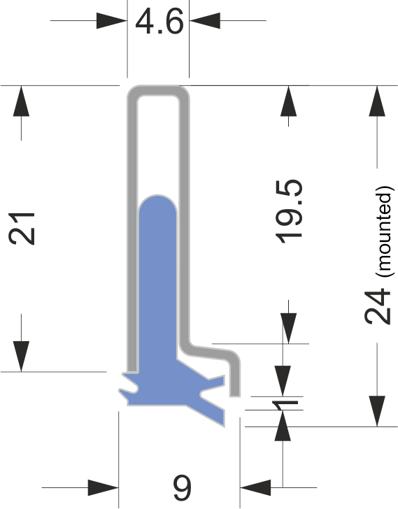 AB-3 series way wipers for machine