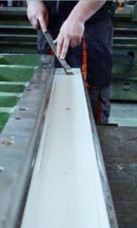 Biplast-V® slide guides for machinery