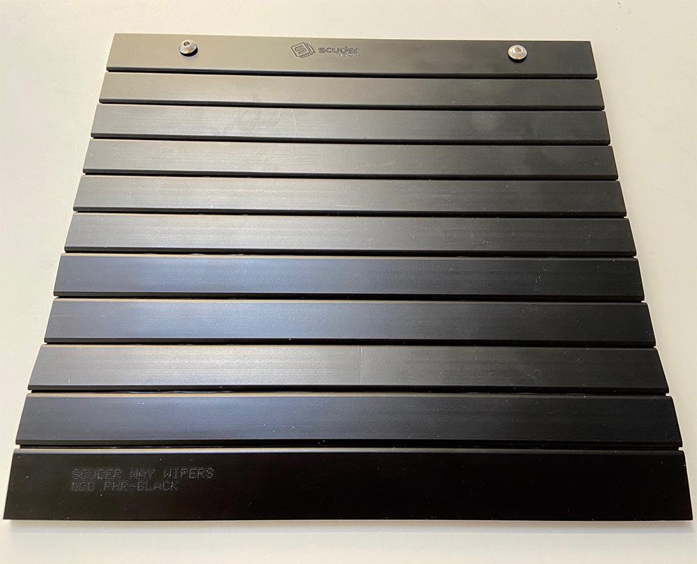 Black machine blinds