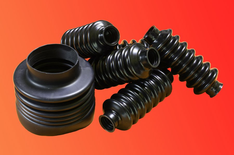 Example of cylindrical protective bellows for machine tool made of nitryl, PVC, food-safe silicone, etc.