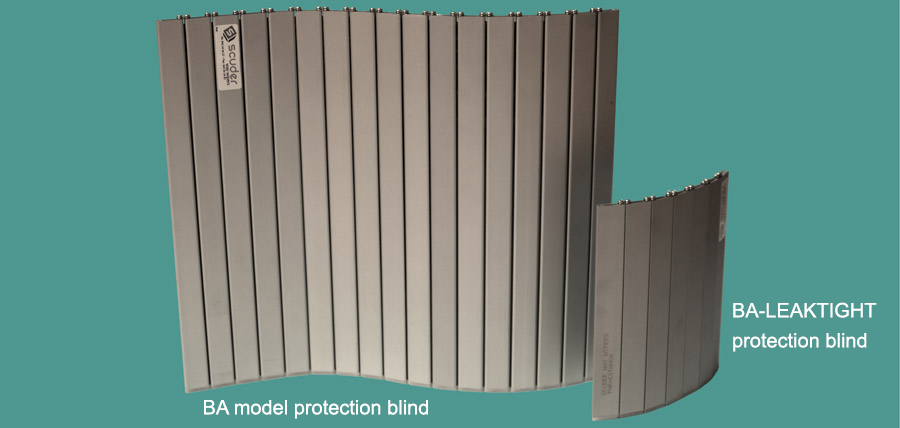Machine blinds models BA (rotate in both directions) and BA-LEAKTIGHT (rotate in only one direction)