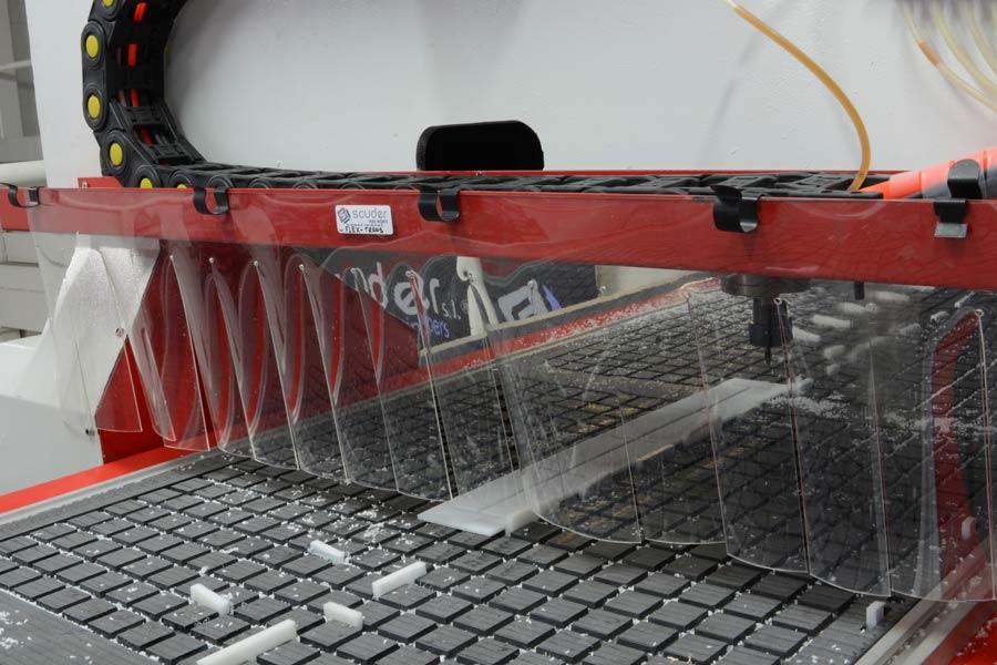 PVC Flex retention curtain for machines