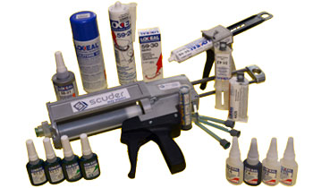 Special LOXEAL adhesives, fasteners, retainers, and sealers