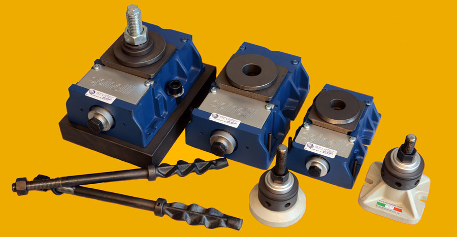 Levelers for machinery. Anchor and leveling elements.