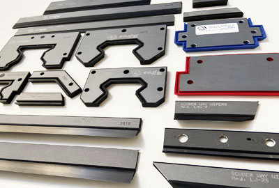 VULCANISED way wipers for machinery